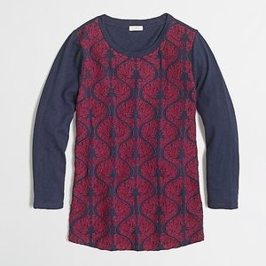 J. Crew Factory Embroidered Front Top
